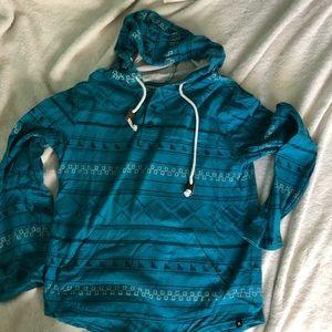 Hurley Teal Hoodie Sweater